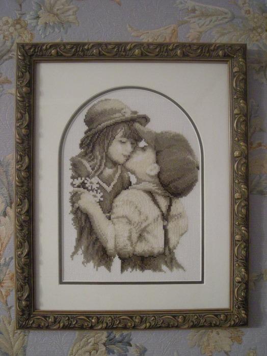Поцелуй Vervaco. Вышивка