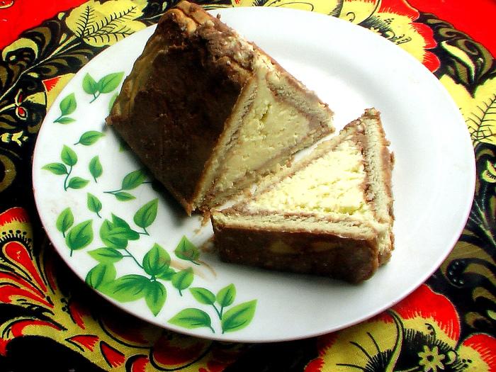 торт из печенья и творога без выпечки шалаш фото рецепт
