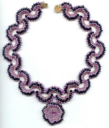 ожерелье из бисера и их схемы - Всемирная схемотехника.