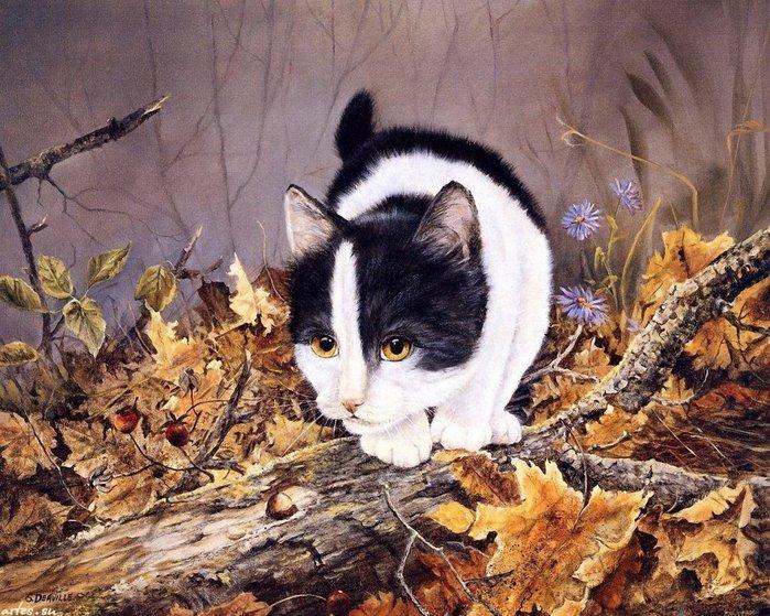 На Орбите много любителей кошек.Случайно нашла работы канадской художницы Ширли Деавилл.Такие тёплые и почти...