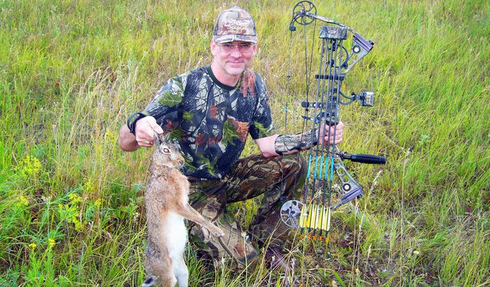 охота на зайца на рыболов охотник