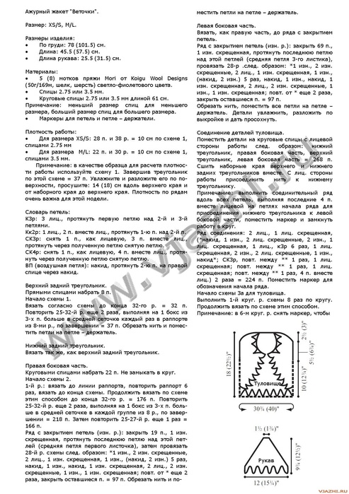 "вязание спицами. a href= ""http://www.liveinternet.ru/users/4669494/post280148907/ ""Р–РђРљР*РўР Рљ/a br. жакет..."