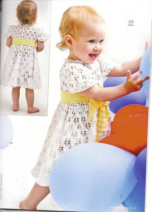 вязанные платья для девочек крючком со схемами. платье для девочки до 3...