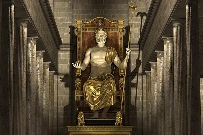 Статуя зевса в олимпии где находятся