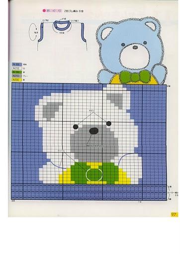 """Вязание для детей:Пуловер спицами с рисунком """"Мишка на севере"""""""