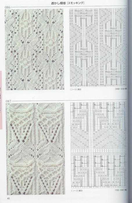 Вязание спицами японских узоров схемы и описание