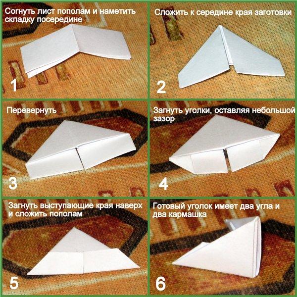 Схемы модулей из треугольных модулей