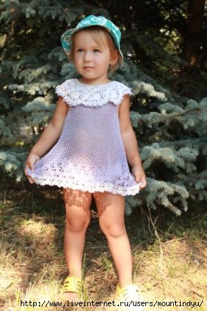 Летнее платье для моей младшей дочки