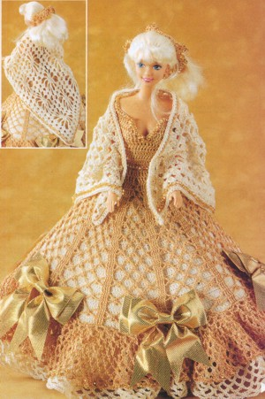 А здесь мебель для куклы.  Источник. вязание крючком.  Еще вязание для кукол.