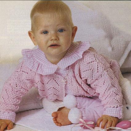 Вязание ажурных кофточек для девочки
