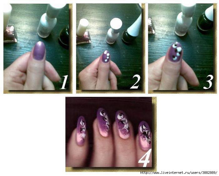 Дизайн ногтей рисунки иголкой