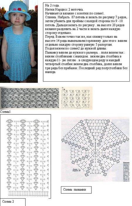 Схема Вязания Детской Панамки
