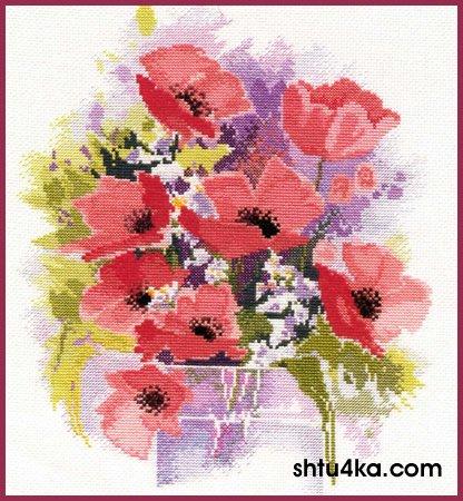 """Вышивка схемы Царь зверей. цветы.  """"вышивка схемы рози, цветы рози, цветы.  Схема.  Tags.  Размер схемы вышивки : 175..."""