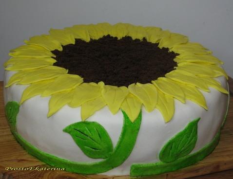 Торт подсолнух с фото