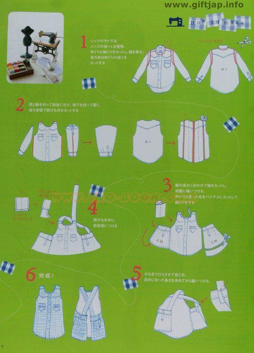 Как сшить фартук из рубашки мастер класс