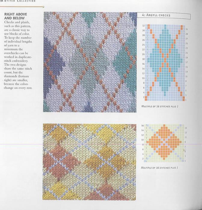 Цветной рисунок для вязания спицами 93