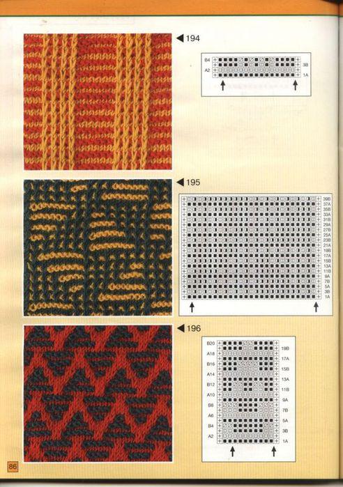 образцы рисунков вязания спицах.