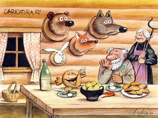 Шаржи на медведева и путина юмор
