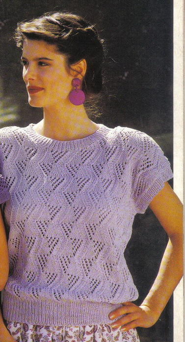 Вязаная Легкая Блузка С Короткими Рукавами