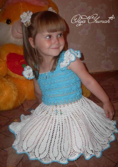 Выкладываю схемки к платью Платье для маленькой леди со схемами.  Схемы: Верх вязала по этим схемкам: Схема к юбочке.