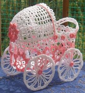 Вязание крючком детской коляски