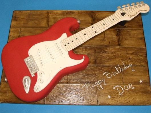 Торт гитара сделать своими руками