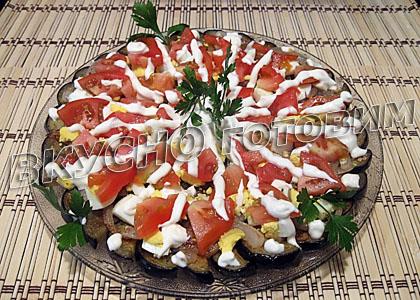 Салат с картошкой грибами слоеный рецепт