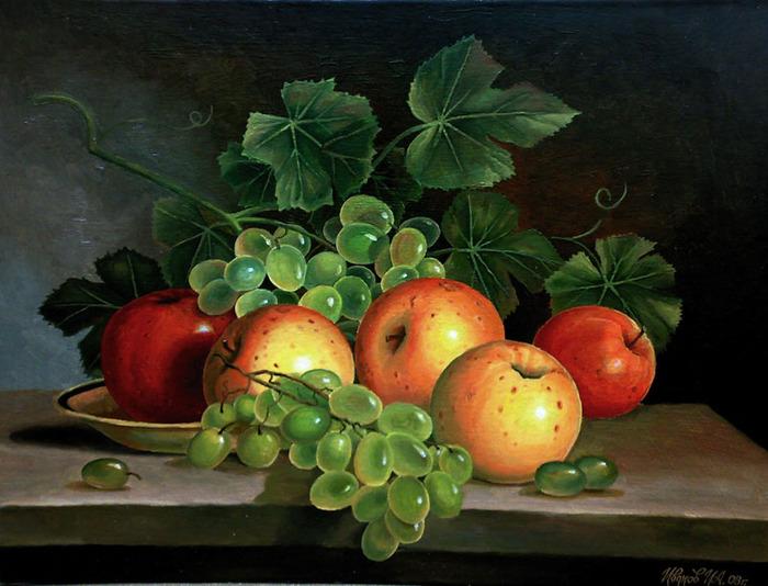 Ответ: Натюрморты с яблоками.  5. 4. 3. 2. 1. Вчера отмечался Международный день яблока(Aplle Day).