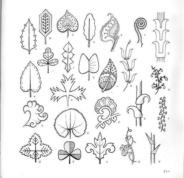 Продолжение следует.  Продолжаем тему рисования и шаблонов для рисования.  Подборка листьев выполненных в разных...