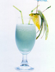 """""""Рецепт Коктейль  """"Голубые Гавайи.  Кулинарные рецепты.  Полезные ссылки."""