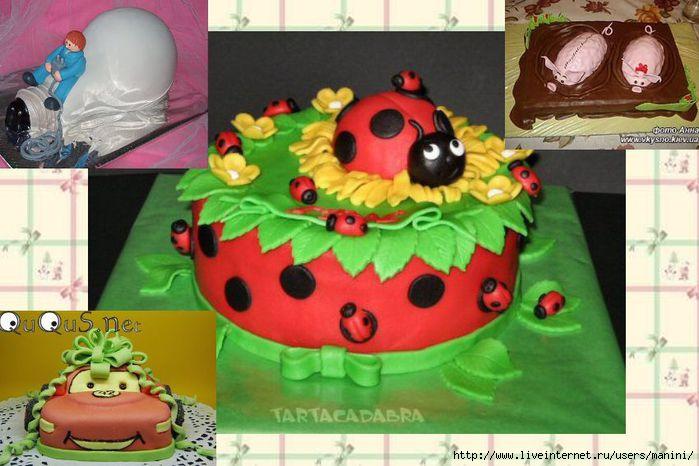 Как украсить торт мастикой мальчику.