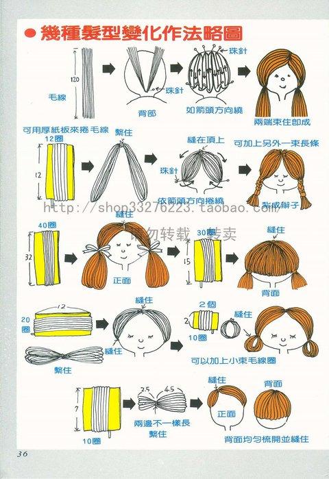 Сделать волосы для куклы своими руками