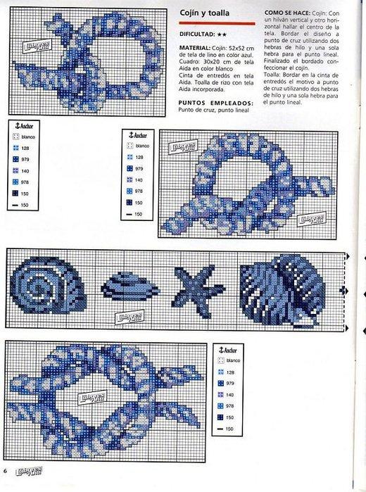 Вышивка на морскую тему схемы 36