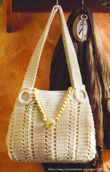 как вязать крючком, схемы вязания женских сумок спицами и модели вязаной.
