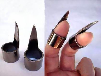 Как сделать из металла когти 408