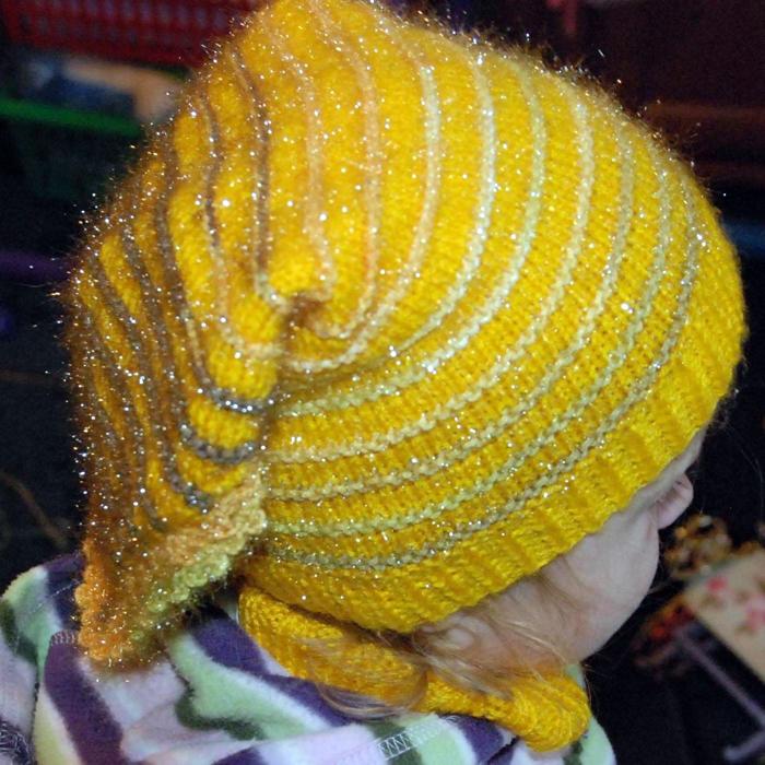 вязание шапка косынка.