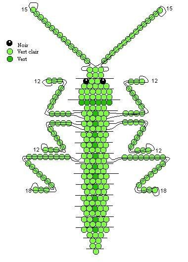 Плетение из бисера насекомых для начинающих