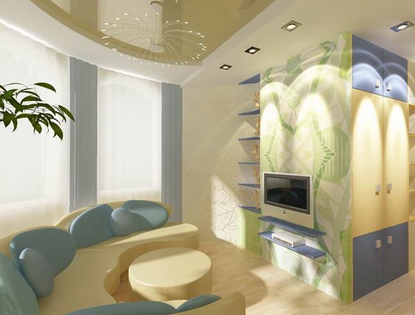 Обычно комната на мансарде имеет неправильную форму, что осложняет оформление интерьера.