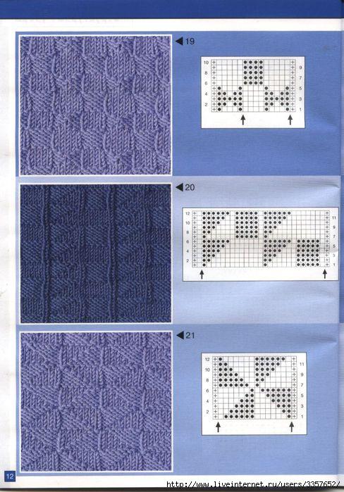 Узоры спицами (много).  Написано. вязание спицами( примерно так).