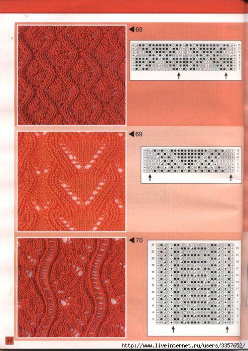 """Часть 2. Часть 3.  """"Часть 1. Косое вязание - или все секреты вязания по диагонали.  Узоры спицами (много)."""