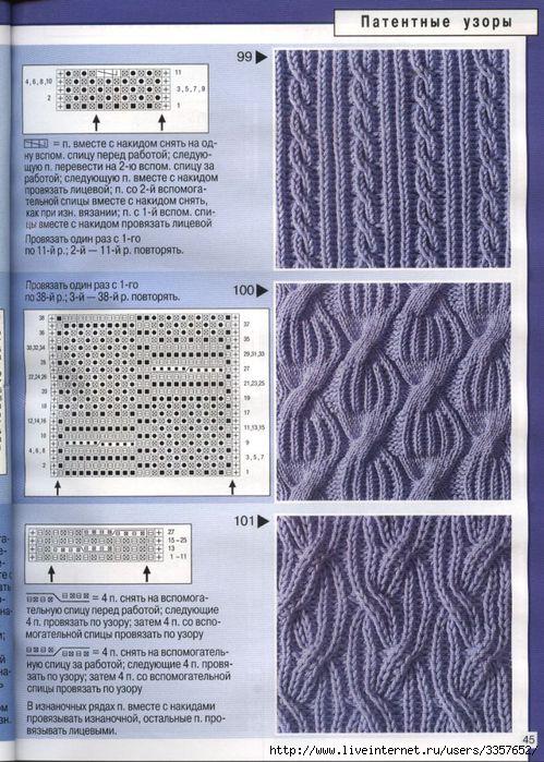 Узоры и схемы вязания крючком,