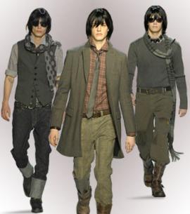 """...три стиля одежды -  """"бандит-неудачник """" (все виды спортивной одежды..."""