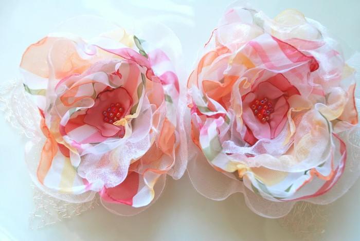 Цветы из органзы своими руками быстро