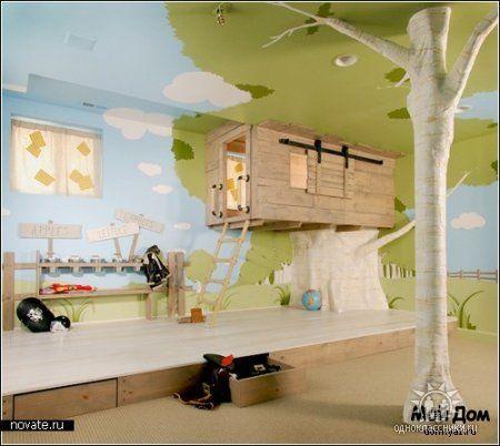 """Детская комната  """"Домик на дереве """""""