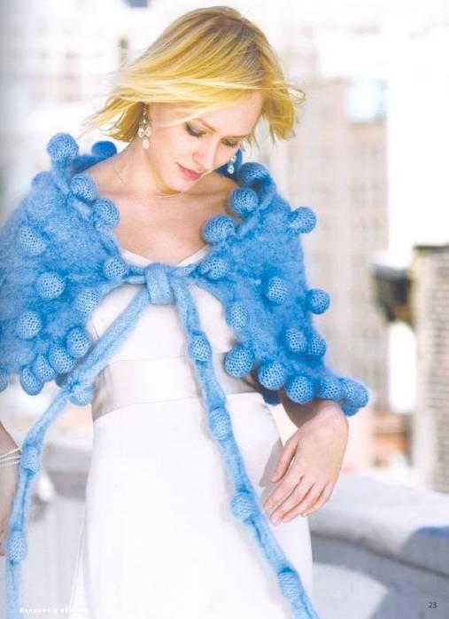 схема вязания женской кофты реглан сверху спицами