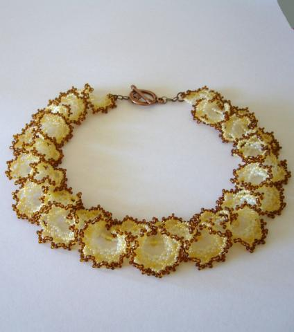бисер в вышивку золотом
