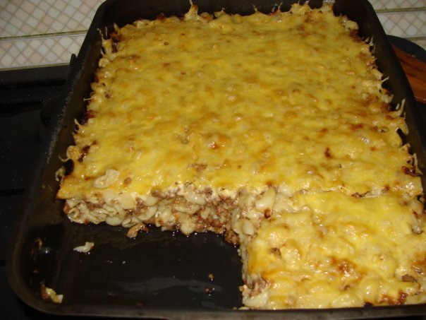 Макароны в духовке с сыром и яйцом в духовке пошаговый с фото