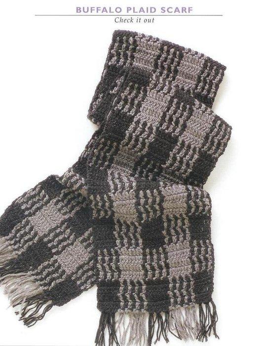 Вязание крючком шарф мужской.