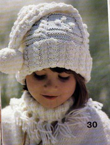 вязание шапок спицами для девочек. шапки вязаные женские схема.
