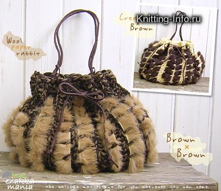 Вязанные изделия из меха Образцы изделий из вязанного меха.